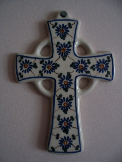 Polish Pottery Cross